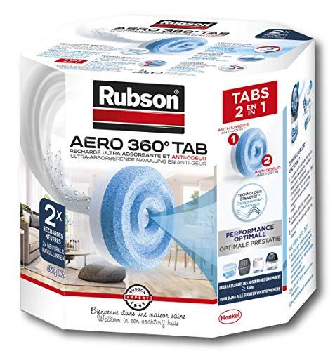 Rubson Aero 360 Nachfüll-Tabs für Luftentfeuchter, 2 Stück
