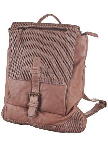 BULL&HUNT - Rucksack - Daypack sand - 100% Rindleder - Als Schultertasche /Crosser nutzbar