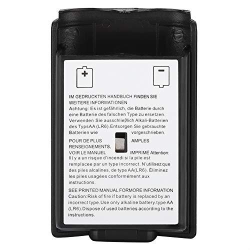 ASHATA Ersatz-Batteriefachdeckel 5-teiliges Universal-Batteriefach-Kit für den Xbox 360-Controller(schwarz)