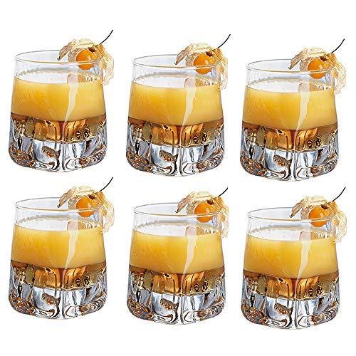 Kimmyer 6 Piezas Espesado Cristal Copa de Whisky de Cristal-
