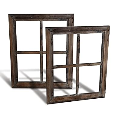 Cade Rustic Wall Decor-Home Decor Window Barnwood Frames -Room Decor for Home or Outdoor, Not For Pictures (2, 18.1X22.1)