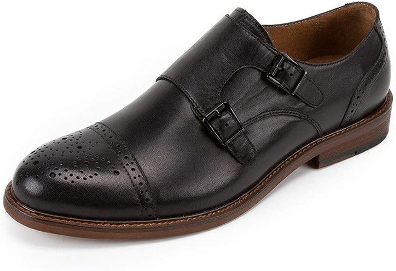 Rui Landed Formal Oxfords for män Premium läder Monk Strap Party Slish -ons Brogue bilve Captoe