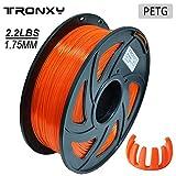 PETG Filamento para impresora 3D 1,75 mm, tolerancia de diámetro +/- 0,05 mm, bobina de 1 kg,...