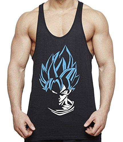 WhyKiki Super Son Goku Camiseta de Tirantes para Hombre Dragon Master Ball Vegeta Turtle Roshi, Farbe2:Negro;Größe2:L