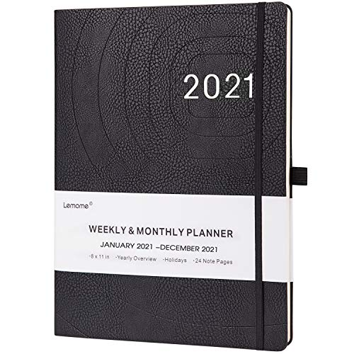2021 Planner - Weekly, Monthly and Year Planner with Pen Loop, 8.5