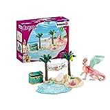 Schleich 42436 bayala play set - isla del dragón con tesoro, juguetes a partir de los 5 años