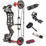 NC93 1Set 30-60lbs Archery M109E Compound Bow Steel Ball Bowfishing Bow IBO 320FPS Right Hand/Left Hand Shooting Hunting Accessories (setA)