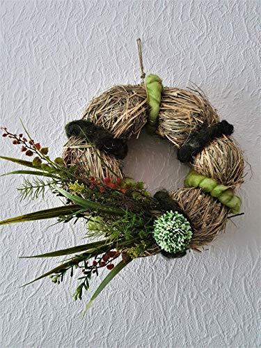 Wandkranz Tischkranz Heukranz Allium Gerbera Astern Kunstblumen