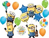 Minions Party Supplies Despicable Me Birthday Balloon Bouquet Decorations