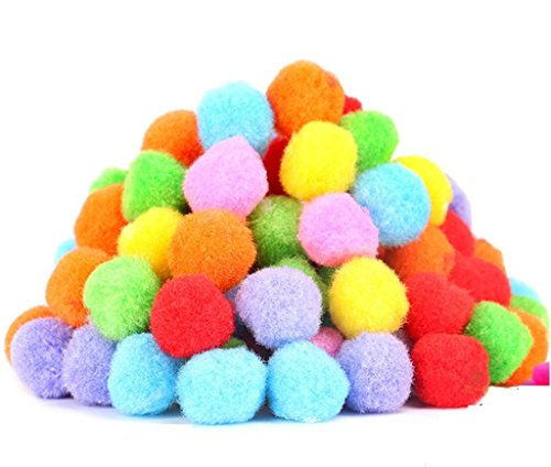 PET SHOW 1.8' Soft Cat Toys Balls Kitten Cats Toy Pompon Ball Assorted Color Pack of 20