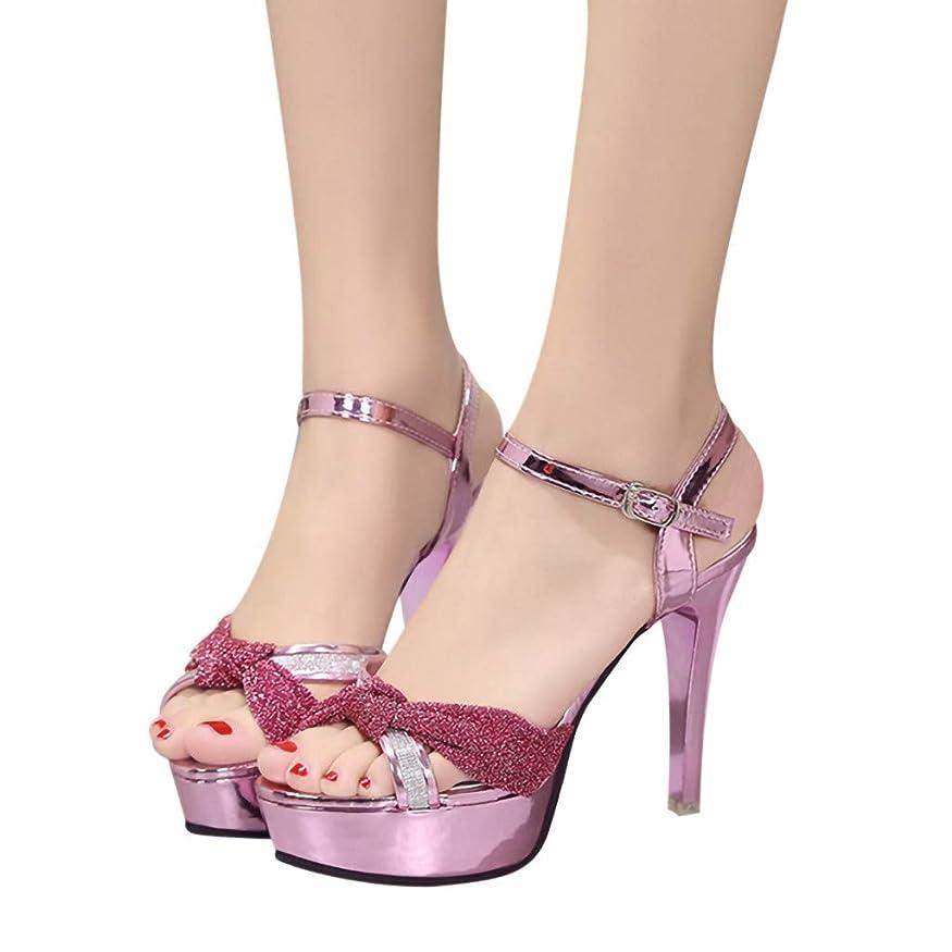 スキム芸術的濃度[レディース シューズ] Feteso サンダル ハイヒール ファッション 無地 靴 通勤 春夏秋 美脚 レジャー パーティー Fashion High Heel Shoes Women Shoes 人気 2019 新品