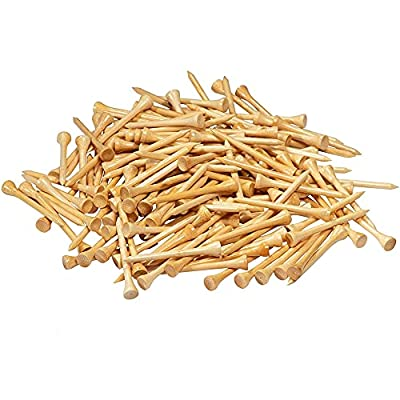 Juvale Eco Golf Tees - 300-Pack Height Bamboo Golf Tees, Biodegradable Unbreakable Golf Tee, Golf Accessories Equipment, Stronger Than Wood Golf Tees, 2-3/4 Inches