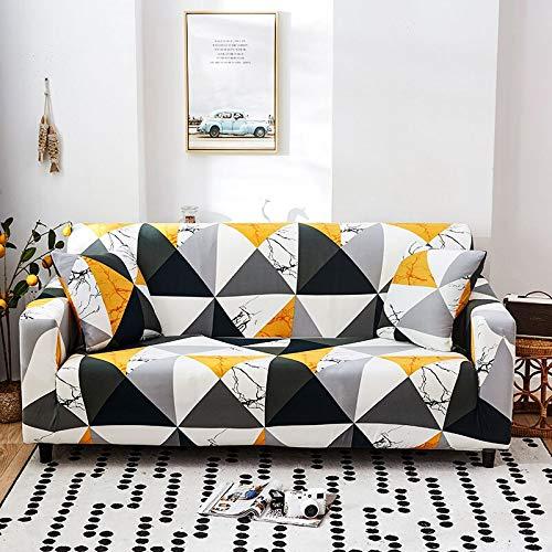 WXQY Funda de sofá Universal elástica geométrica para Sala de Estar, Funda de sofá Antideslizante elástica, Funda de sofá, Funda Protectora de Silla A22 de 3 plazas