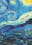 2021-2022: Small UK Academic Planner 2021-2022 / School Diary / Page A Day / Van Gogh Starry Night