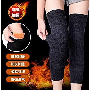Customer reviews NIUXX Knee Pads On Cold And Warm Winter Plus Thick, Warm Winter Men And Elderly Care Knee Motorcycle Wind The Legs, All Code, Dark Gray