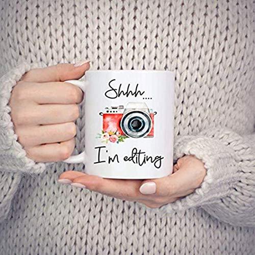 Taza de fotógrafo, regalo de blogger, regalo de fotógrafo, regalo de Vlogger, fotógrafo de boda, taza de cámara, Oh Snap, día de edición, edición de Im y regalo de fotografía