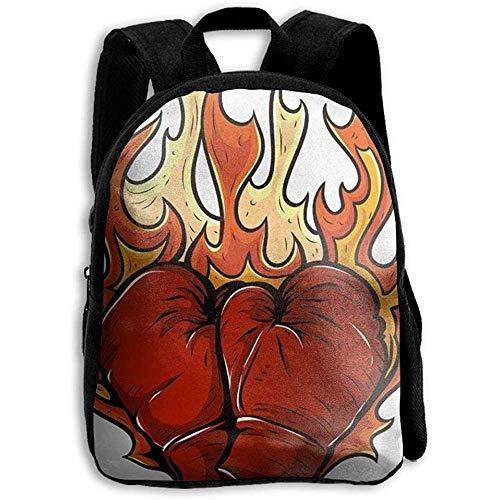 Freizeitrucksack,Reisetasche,Umhängetasche,Schultasche,Unisex-Boxhandschuh Fire Custom,Laptop-Tasche,Rucksack,Outdoor,Mehrzweck,Pack College Geschenk für Kinder/Erwachsene