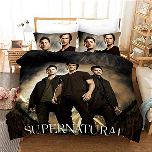 299 Duvet Cover Sets 3D Supernatural Printing Child Adult Bedding Set 100% Polyester Duvet Cover 3 Pieces With 2 Pillowcases A-AU Single140x210cm