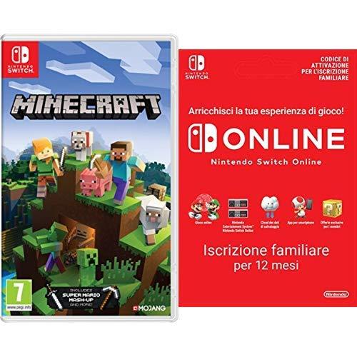 Minecraft - Nintendo Switch + 365 Giorni Switch Online Membri (Famiglia) | Nintendo Switch - Codice download