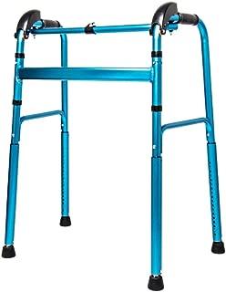 Walker Rollator Walker Rolling Walkers Fold Rollator Rollator Walkers For Seniors Aluminum Alloy Walkers Crutch Toilet Handrail Adjustable Height Free Installation ( Color : Blue , Size : 58*45*96cm )