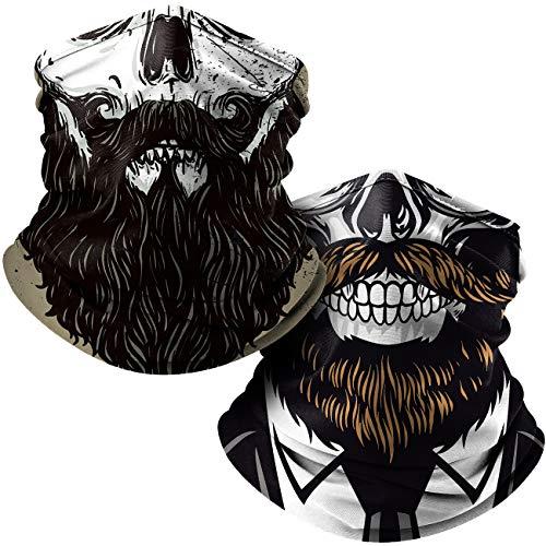 Cool Face Masks for Men, Cloth Designer Neck Gaiter Face Mask for Ski Snowboarding Motorcycle, Face Scarf Mask for Women Bandana Adults Magic Mask Sun UV Dust Protection 2Pack