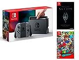 Nintendo Switch Consola 32Gb Gris + Super Mario Odyssey + The Elder Scrolls: Skyrim