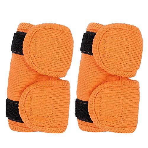 SHYEKYO 2 Piezas, Protector de Codo para Perros, Accesorio de recuperación para Perros con Gancho y Bucle,(Orange, S)