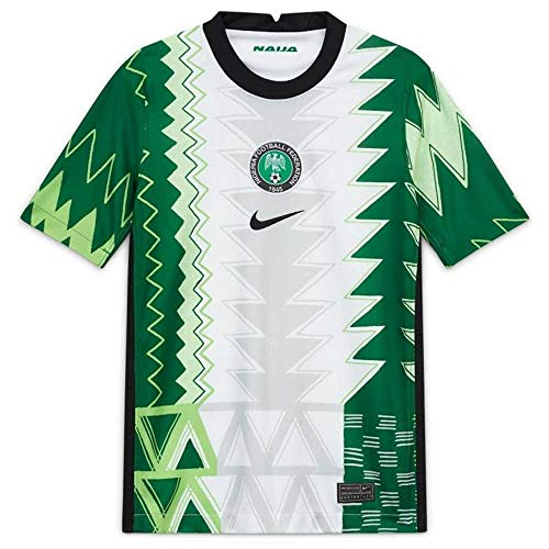 Nike Nigeria Stadium Home Kids' Jersey 20-21 (S) White/Black