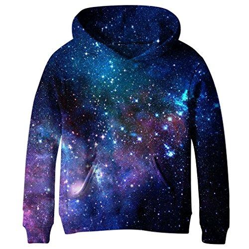 SAYM Teen Boys' Galaxy Fleece Sweatshirts Pocket Pullover Hoodies 4-16Y NO14 M Missouri