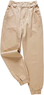 Women Waist Pants Winter Harem Elastic Zipper Punk Hip Hop Classic Trousers Cotton Sweatpants Cargo Pants