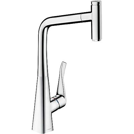 Hansgrohe 14884000 Metris Select grifo de cocina con ducha extraíble, cromo