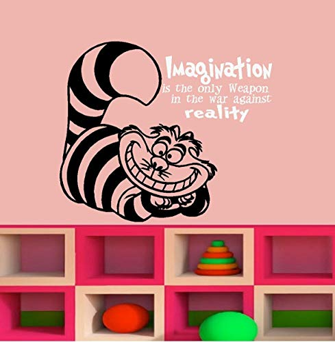 Imagination is The Only Weapon in The Against Reality Sticker mural pour enfant