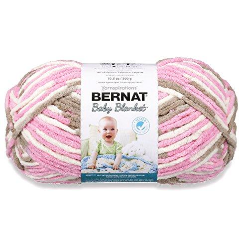 Bernat Baby Blanket Yarn, 10.5 Ounce, Little Roses, Single Ball, 161104-4418