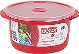 Décor - Recipiente redondo para horno microondas y microondas, con estante para cocinar al vapor - para recalentar microondas y cocinar rápido