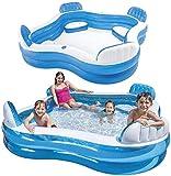 YSYSZYN Centro de natación Piscina Familiar con Asientos para niños 229 x 229 x 66 cm