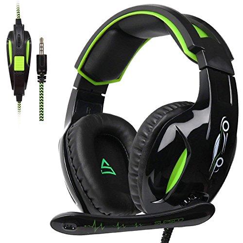 SUPSOO G813 Xbox One PS4 Gaming Headset da 3,5 mm cablato Over-ear isolamento del rumore Microfono Controllo del volume per Mac/PC/Laptop / PS4 / Xbox One - Nero