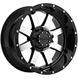 20X12 6-135 & 6-5.5 Gear Alloy 726M Big Block Gloss Black/Machined Wheels