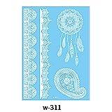 MileHouse prettDliJUN Temporary Tattoo Stickers,Waterproof Lace Flower Wedding Tattoo Sticker Hand Choker Body Art White 311