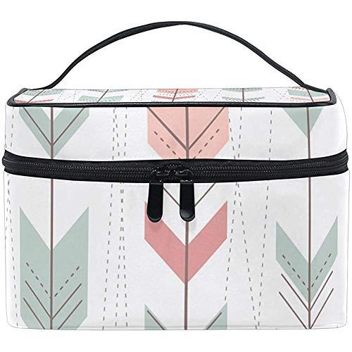 Motif géométrique en style rétro sac cosmétique voyage maquillage train cas stockage organisateur