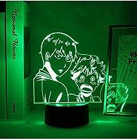 GMYXSW 3DイリュージョンライトLEDナイトライトアクリルテーブルランプYmir攻撃ホームベッドルームの装飾子供ギフトYmirアニメ子供誕生日クリスマスプレゼント-クラックベース_3.