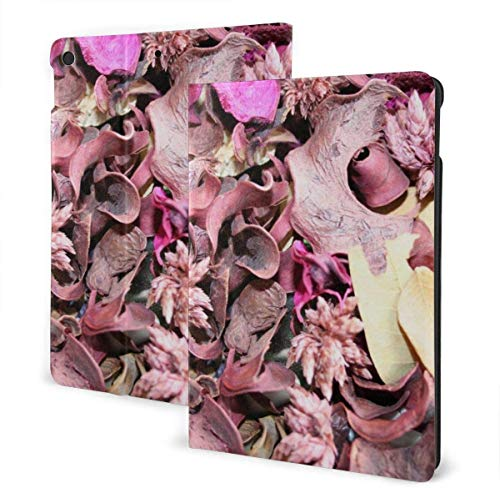Pink Wall Case for New IPad 7th Generation 10.2 Inch 2019 Multi-Angle Viewing Folio Smart Stand Cover Auto Wake/Sleep for IPad 10.2' Tablet-Pink Petals-One Size