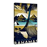 Reise-Poster HD Vintage Reise Poster Bahamas Leinwand