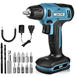 Cordless Drill, WESCO 12V Compact Drill Driver, Max Drill Steel: 6mm, Wood: 15mm