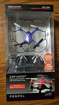 Propel Zipp Nano 2.4Ghz Indoor/Outdoor High Performance Drone 360 Stunt Rolls Blue