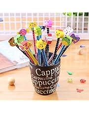 SYOO set di 30x matite con grado di durezza HB e gomma da cancellare, ideale come regalo per festa di compleanno dei bambini, ricompensa scolastica, feste in giardino (i colori sono casuali).