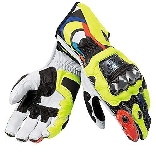 Qianliuk Gute Leder Professionelle Off Road Motorrad Handschuhe,Erwachsene Coole Winddicht Vollfinger Motorrad Handschuh Moto Motocross Handschutz
