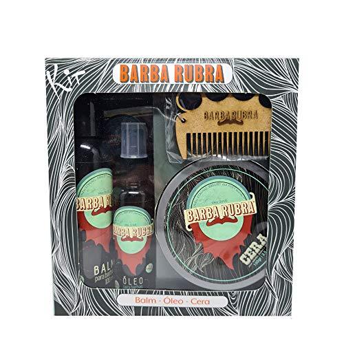 Kit Barba Rubra Cabelo e Estilo Balm Óleo Cera - 2604