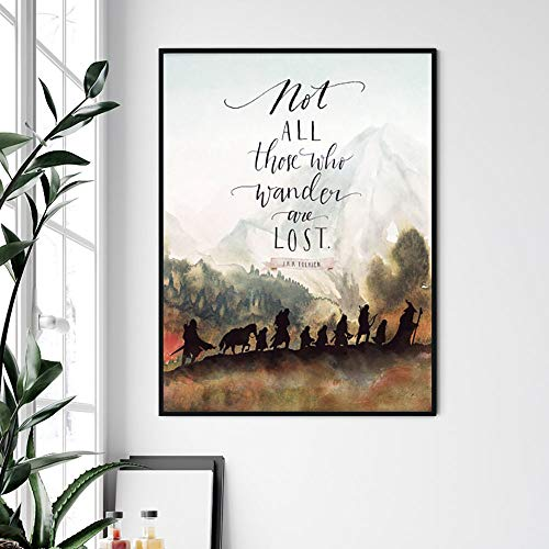 Wall Art No Frame Canvas Painting Home Decor Lord of The Ring Movie Poster Classic Quotes Print Nordic Style Modular Picture Living Room