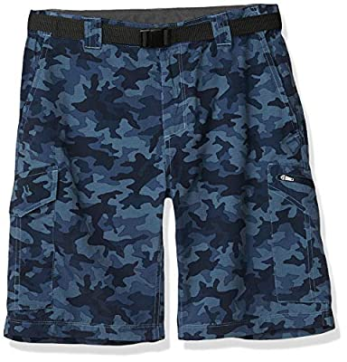Columbia Men's Silver Ridge Printed Cargo Shorts, Moisture Wicking, Sun Protection