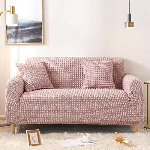 Funda para sofá con diseño moderno,Funda de sofá Funda de sofá universal para sala de estar, Funda de sofá elástica Funda de poliéster Funda de almohada Four Seasons-Pink 40 * 40cm (1 pieza)